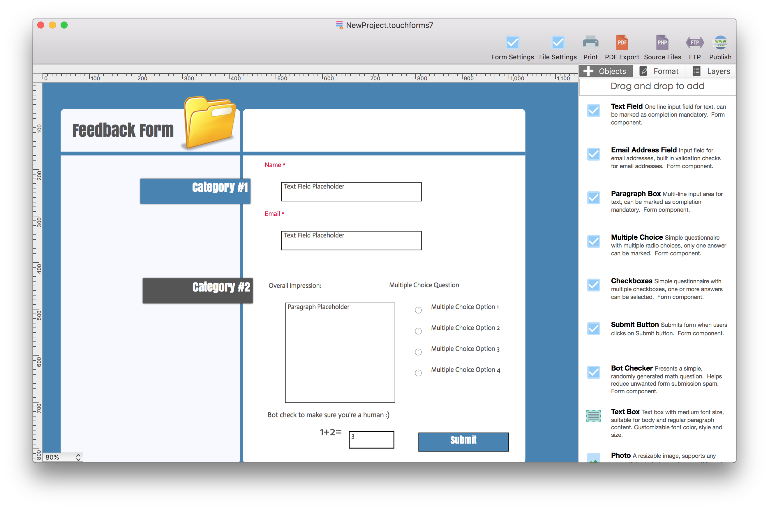 Touch Forms pro 7 for Mac 7.40.3 破解版 - 网页表单生成器